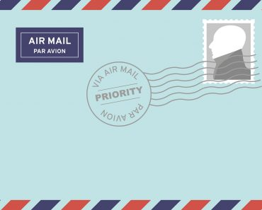 A envelope mail for letter writing