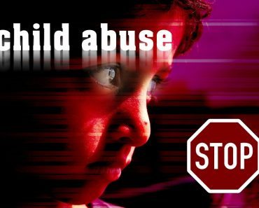 a sign saying stop child abuse